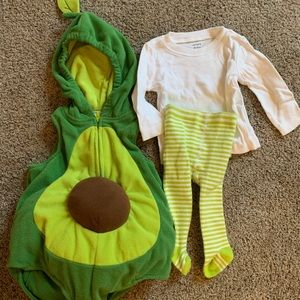 Infant Avocado Halloween Costume size 6-9 months